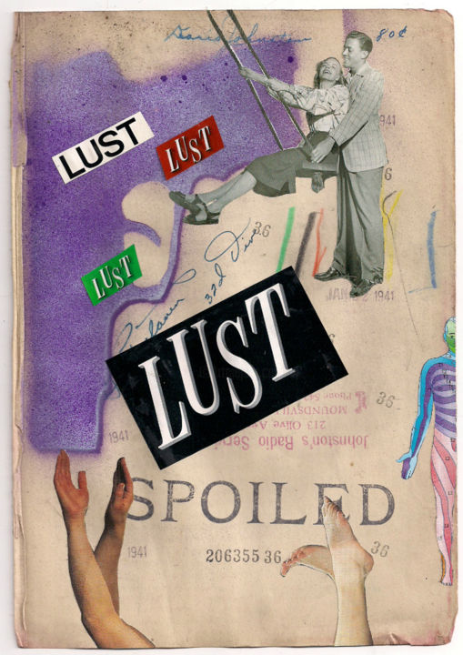 """Painting titled """"Spoiled Lust"""" by Diane Irby, Original Art, Other"""