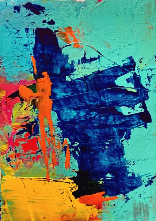 """Painting titled """"First Step"""" by Diane Leon, Original Art, Acrylic"""