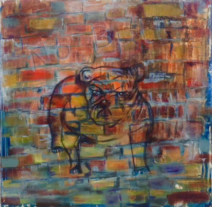 """Painting titled """"No Bull"""" by Dianne Bauer, Original Art, Acrylic Mounted on Stretcher frame"""