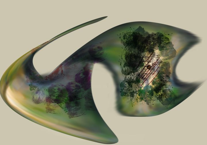 """Digital Arts titled """"Twisted Fish"""" by Dianne Bauer, Original Art, Digital Painting"""