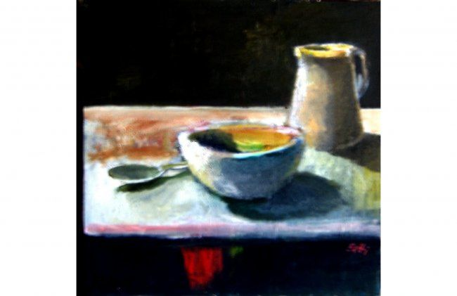 """Painting titled """"composizione"""" by Bruno Betti, Original Art,"""