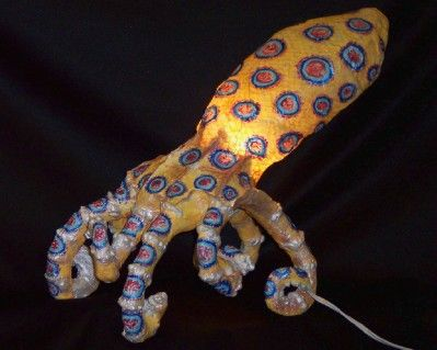 """Painting titled """"Blue Ring Octopus"""" by Richard Dagostino, Original Art,"""