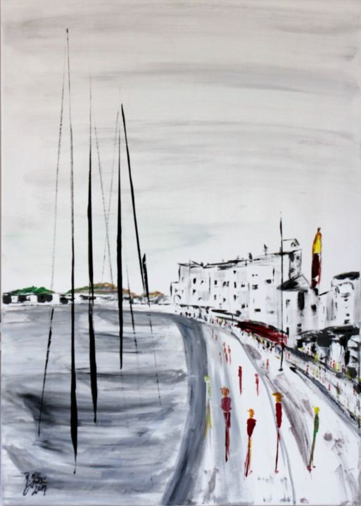 People in St. Tropez - ©   Online Artworks