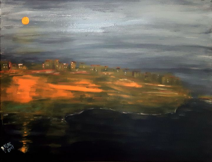 landscape at night - ©   Online Artworks