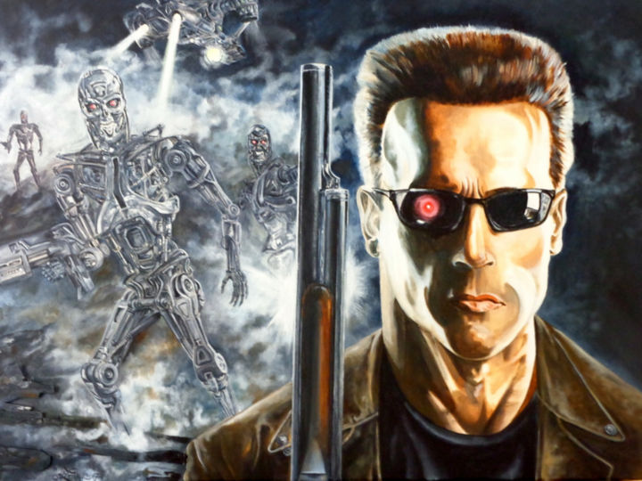 """Painting titled """"Terminator"""" by August Di Lena, Original Art, Acrylic"""