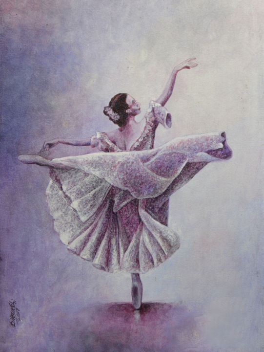 """Painting titled """"Beauty in Balance"""" by Dilrukshi Chandrika, Original Art, Acrylic Mounted on Stretcher frame"""