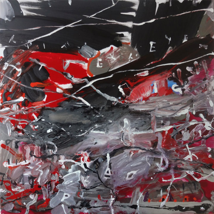 """Painting titled """"Fatalité / Fatality"""" by Dimi Tabacelea, Original Art, Acrylic"""