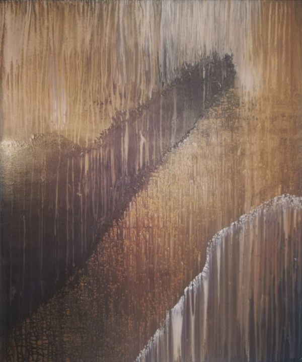 """Painting titled """"Presenting the light"""" by Dimitrios Ntks, Original Art, Acrylic Mounted on Wood Panel"""