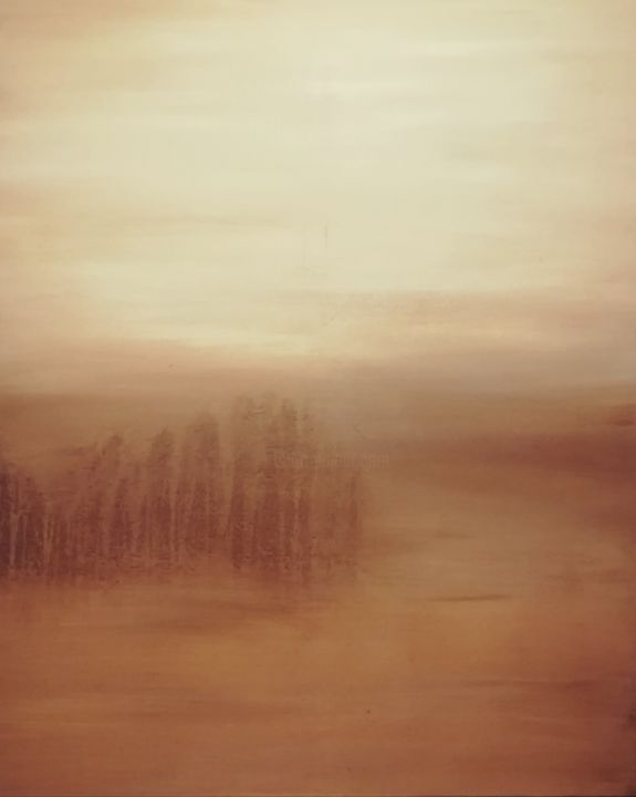 """Painting titled """"Forest landscape"""" by Dimitrios Ntks, Original Art, Acrylic Mounted on Wood Panel"""