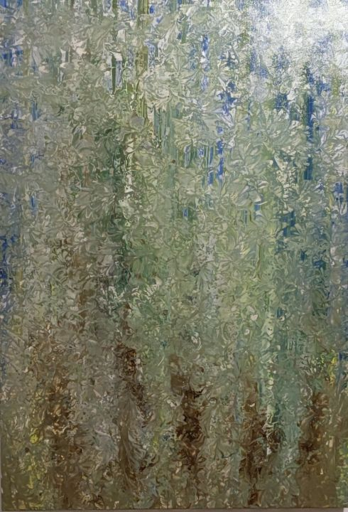 """Painting titled """"FOREST - FLÂNEURS"""" by Dimitrios Ntks, Original Art, Acrylic"""