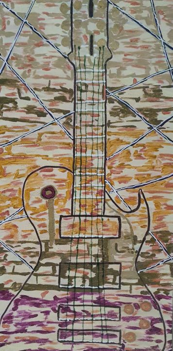 """Painting titled """"Strings of life par…"""" by Dinedero, Original Art, Acrylic"""