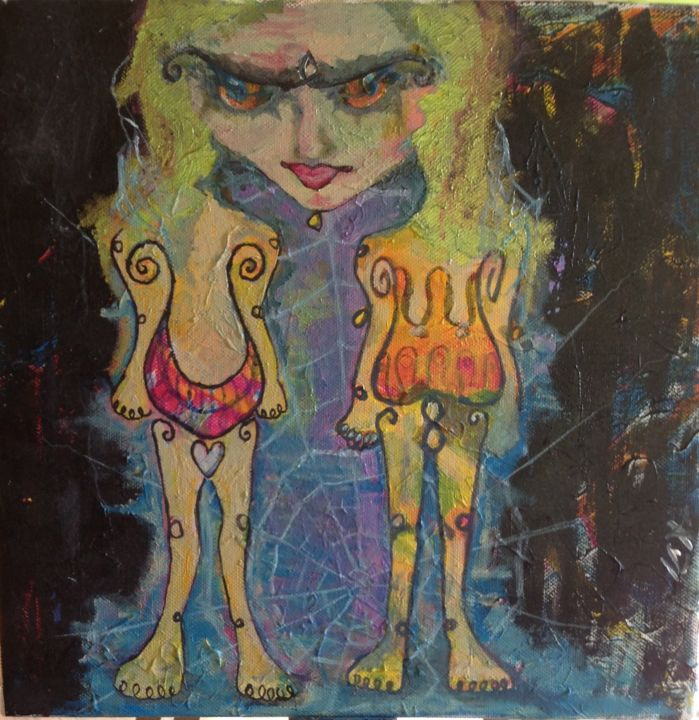 """Painting titled """"Self"""" by Ica, Original Art, Acrylic"""