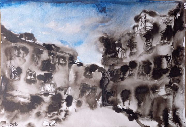 """Painting titled """"A1"""" by Dino """"Magnificent"""" Bakić D V B, Original Art, Watercolor"""
