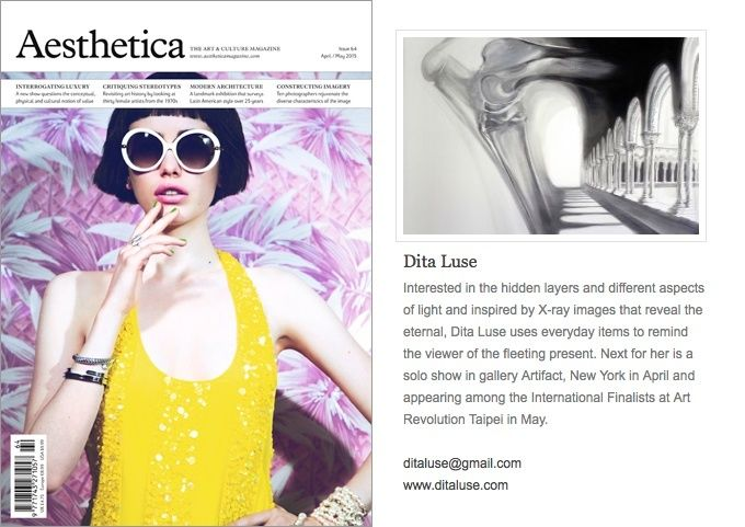 "Publication in ""Aesthetica"" magazine"