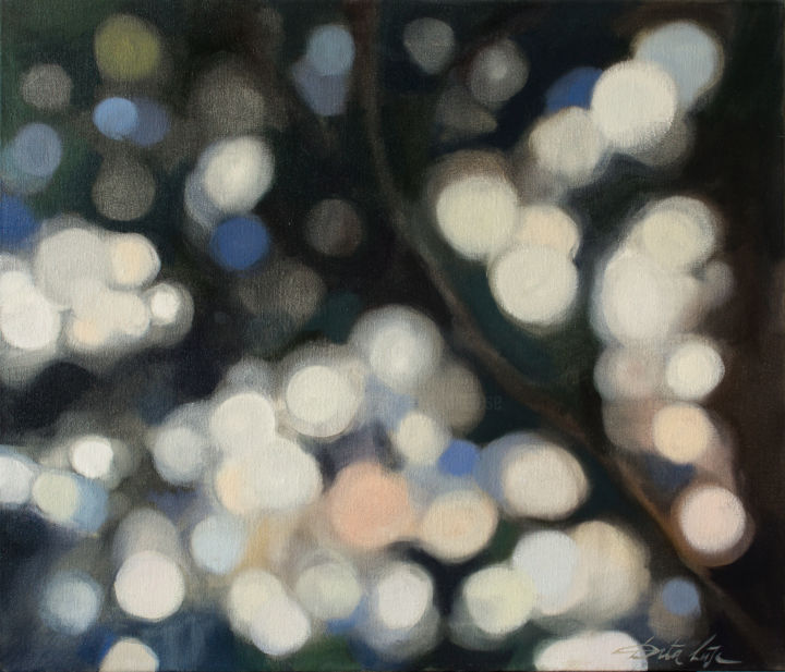 Glitter. Lights - Painting,  60x70x2 cm ©2018 by Dita Luse -                        Canvas