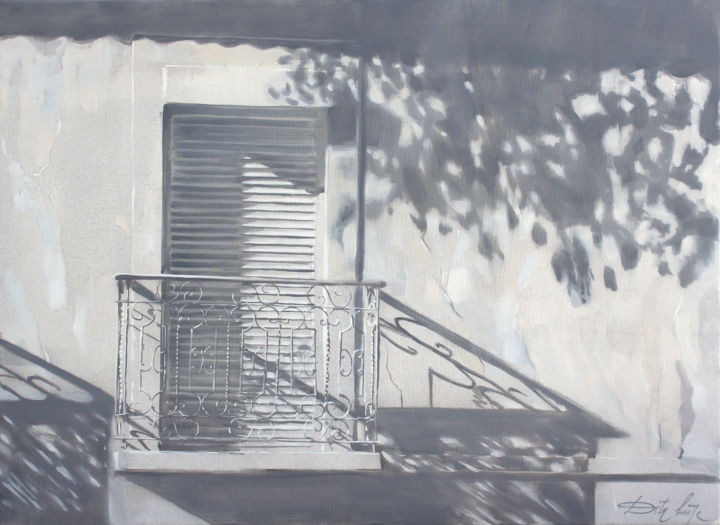 The white - Painting,  34.7x47.2x0.8 in, ©2019 by Dita Luse -