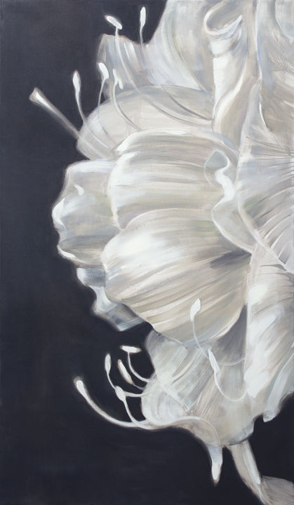 Amaryllis - Painting,  47.2x27.6x0.8 in, ©2019 by Dita Luse -