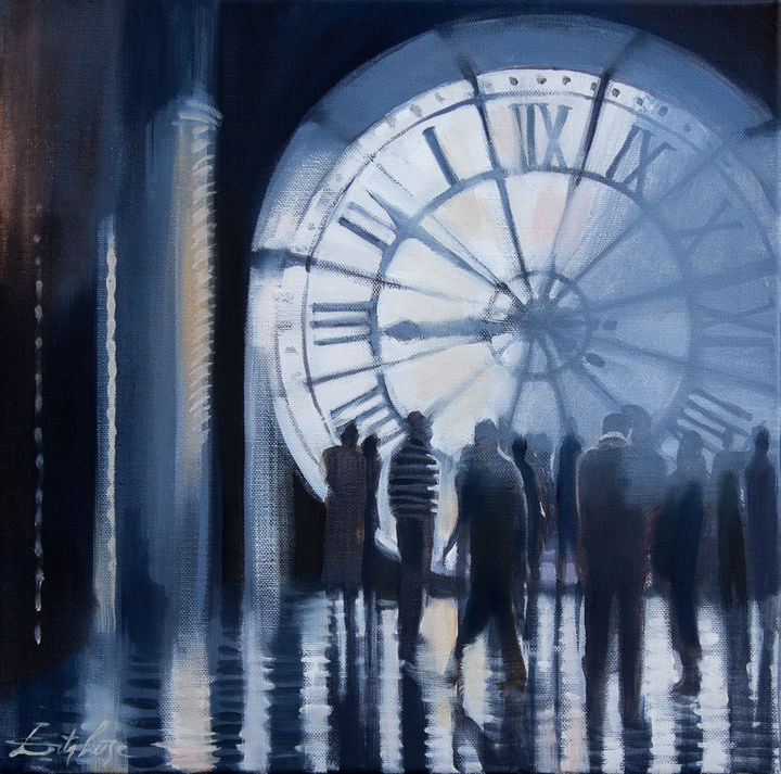 """Painting titled """"In the light of time"""" by Dita Luse, Original Art, Oil Mounted on Stretcher frame"""