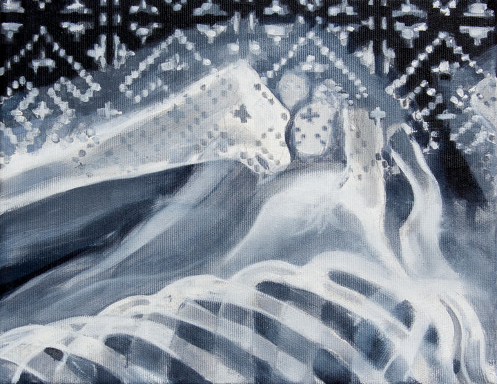 """Painting titled """"Creation IV Shoulder"""" by Dita Luse, Original Art, Oil Mounted on Stretcher frame"""