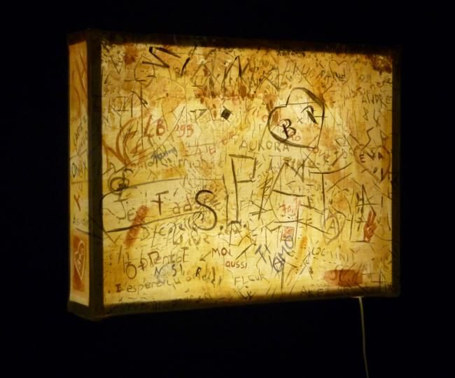Inscriptions - Painting,  19.7x25.6 in, ©2011 by Dita Luse -