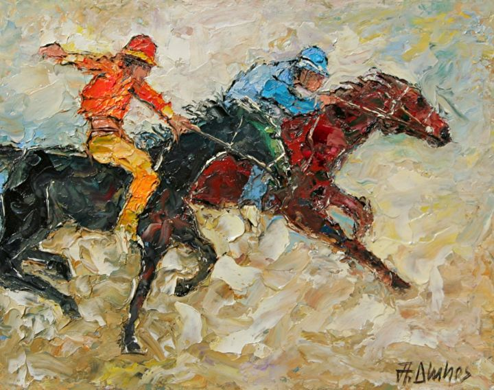 """Painting titled """"""""The Win in Siena""""…"""" by Andre, Yary, & Peter Dluhos, Original Art, Oil"""
