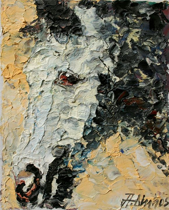 """Painting titled """"""""The Gray"""" by ANDRE…"""" by Andre, Yary, & Peter Dluhos, Original Art, Oil"""