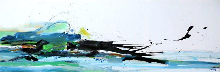 """Painting titled """"Rivages"""" by Doam, Original Art, Acrylic"""