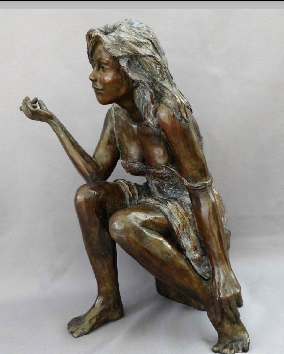 Ambre - Sculpture,  39x27x20 cm ©2013 by Dominique Beyssey -