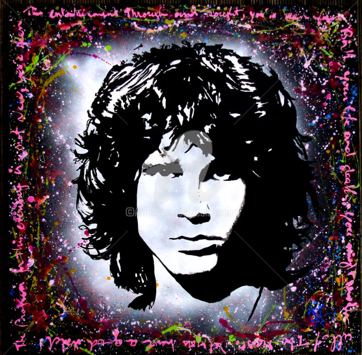The Doors - Jim Morrisson - Painting 80x80x5 cm ©2016 by dol - Pop  sc 1 st  Artmajeur & The Doors - Jim Morrisson (dol)