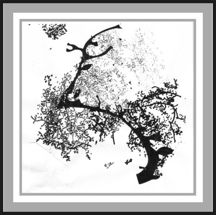 """Drawing titled """"The spring"""" by Dolmajer Agneta, Original Art, Ink"""