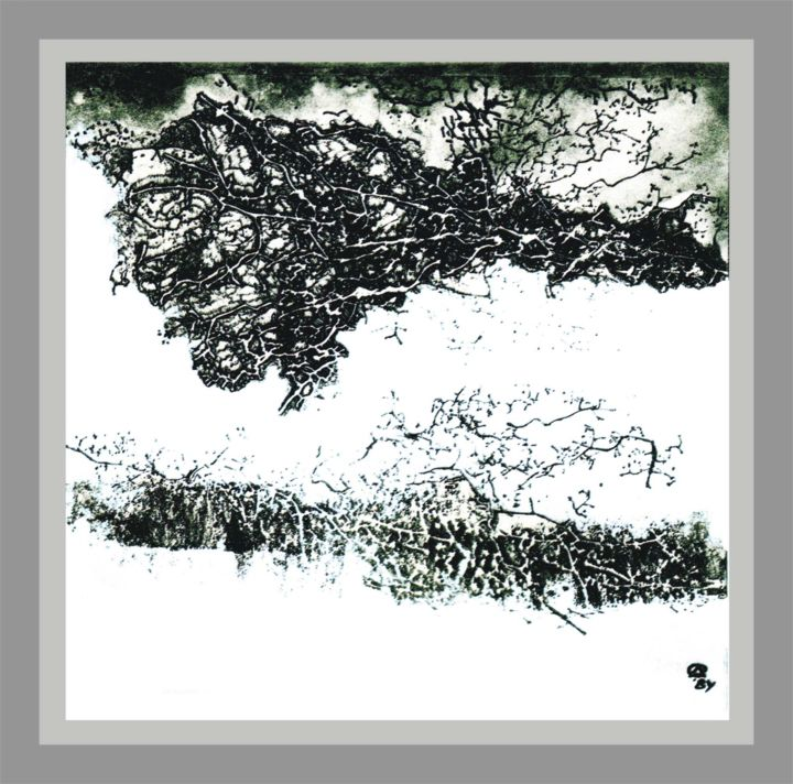"""Drawing titled """"The winter"""" by Dolmajer Agneta, Original Art, Ink"""