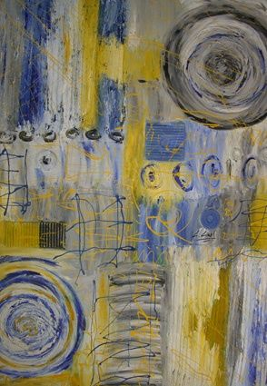 CALMA INTERIOR - Painting,  95x122 cm ©2008 by Maria Dolores Leal -