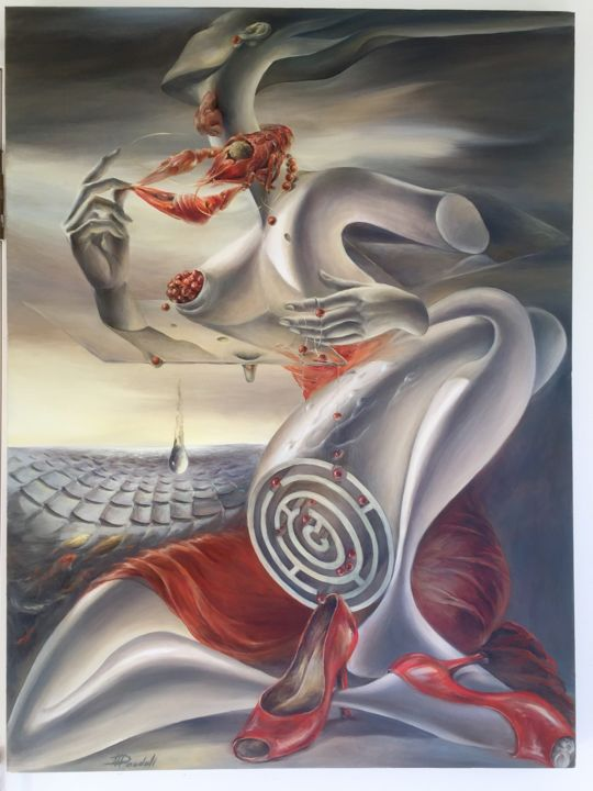 """Painting titled """"Two left shoes"""" by Natalya Doudell, Original Art, Oil"""
