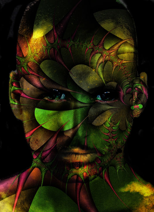 Urban punk - Digital Arts ©2018 by Dodi Ballada -                                            Portraiture, Men, fractal, digital arts, digital painting, portraits, digital portrait, Dodi Ballada