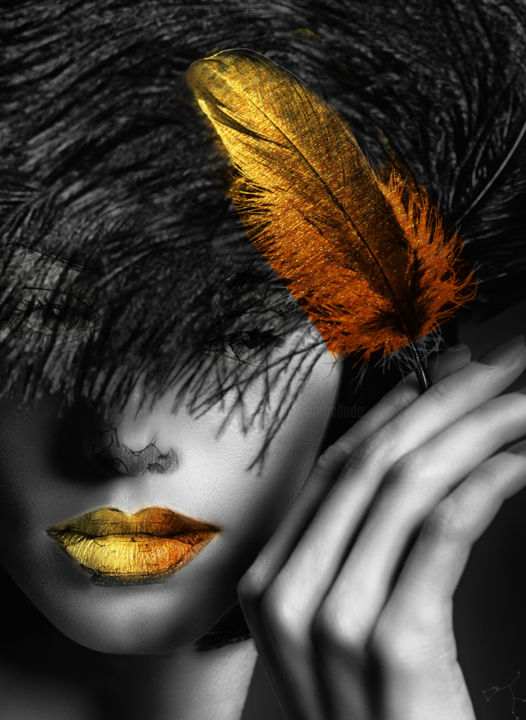 plume - Photography, ©2018 by Dodi Ballada -                                                                                                                                                                                                                                                                                                                                      photography, color photography, digital painting, digital arts, digital drawings, digital portrait, Dodi Ballada