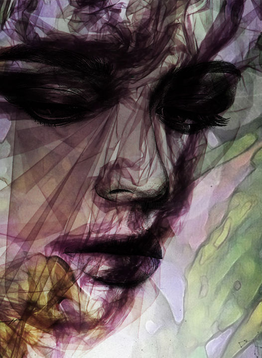 abstract expression - ©  abstract art, abstract digital art, abstract painting, abstract figurative, abstract figurative painting, Dodi Ballada, women portrait, digital painting, digital arts Œuvres-d'art en ligne
