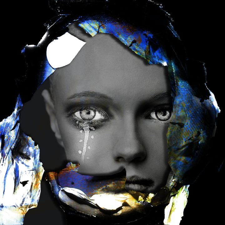 regard sur 2019 - © 2019 digital arts, digital painting, photo montage, Dodi Ballada, #dodiballadaart, women portrait, abstract figurative Online Artworks