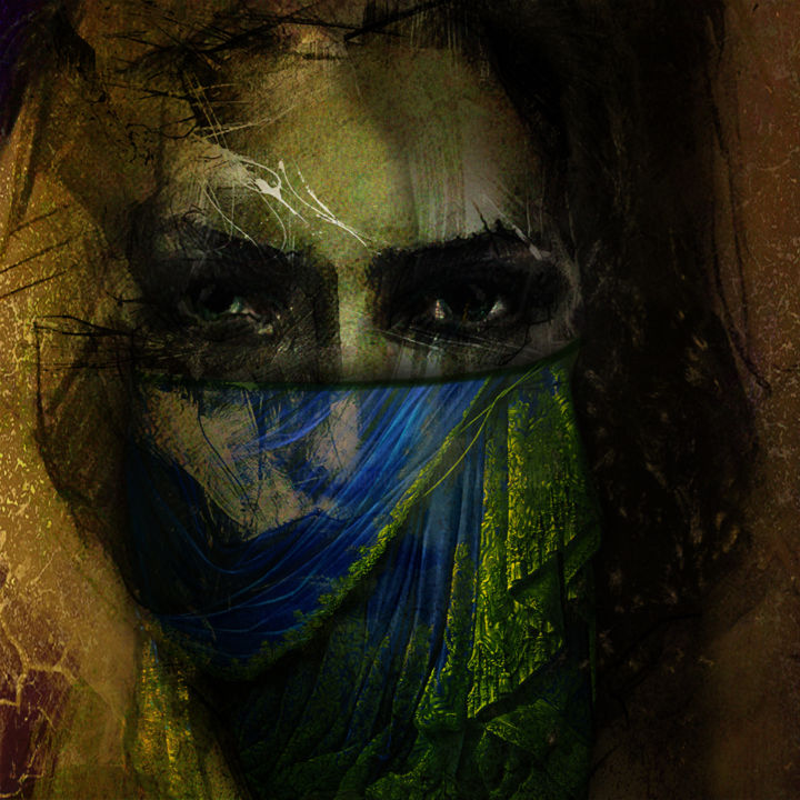 art mask five - Digital Arts, ©200 by Dodi Ballada -                                                                                                                                                                                                  #dodiballadaart, Dodi Ballada art, digital art, digital painting