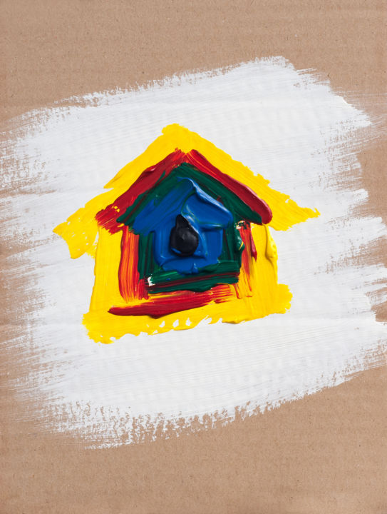 """Painting titled """"Home sweet home"""" by Ami Nº1, Original Art, Acrylic"""