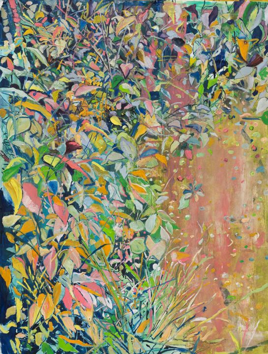 """Painting titled """"Scattered Order"""" by Dominic Virtosu, Original Art, Oil Mounted on Stretcher frame"""