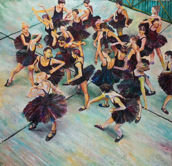 """Painting titled """"Magic Dance"""" by Dominic Virtosu, Original Art, Oil Mounted on Stretcher frame"""