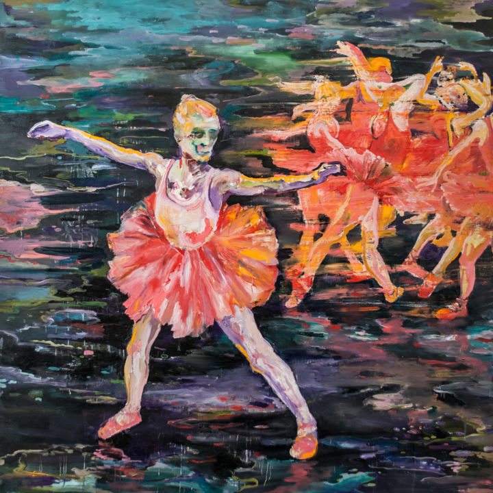 """Painting titled """"Dancers of Love"""" by Dominic Virtosu, Original Art, Oil"""