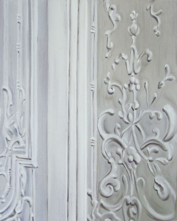 """Painting titled """"Musée Jacquemart An…"""" by Dominika Lehocka, Original Art, Oil Mounted on Stretcher frame"""