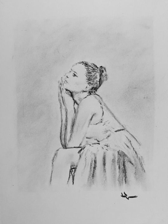 Dancer Drawing By Dominique Deve Artmajeur