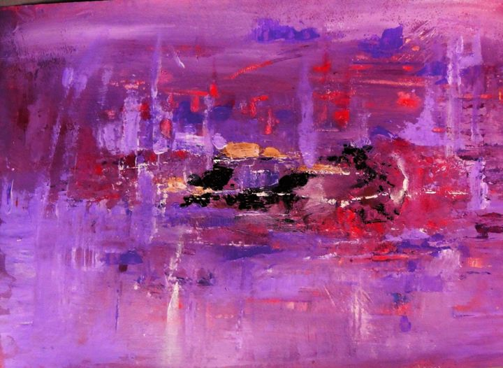 PURPLE - Painting ©2016 by dominique garcin -                                                                                Abstract Art, Paper, Colors, Celebrity, Music