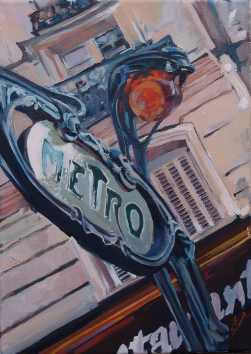 guimard-33x46cm-dominiquecros-oilpainting.jpg - Painting,  46x33 cm ©2011 by Dominique Cros -