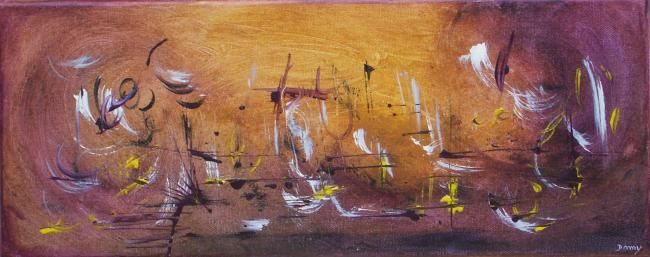 Ame brumeuse - Painting,  50x20 cm ©2009 by Dominique Fouquart  Domy -