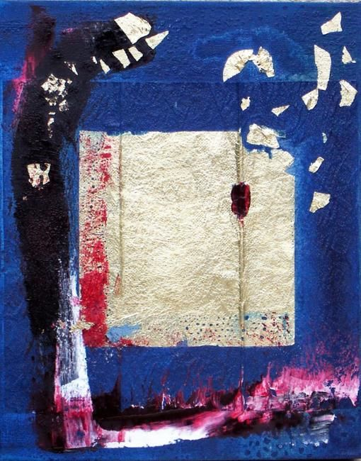 Or toujours - Painting,  30x24 cm ©2009 by Dominique Fouquart  Domy -