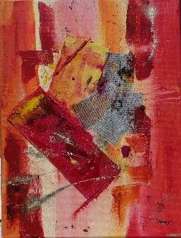 Folle presse - Painting,  40x30 cm ©2011 by Dominique Fouquart  Domy -