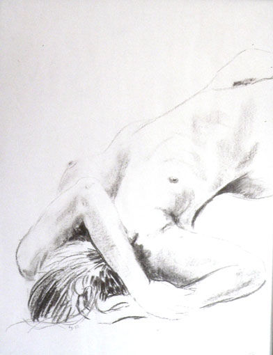 nu2 - Painting ©1994 by Dominique Ramaud -
